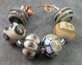 Grayscale Lampwork Bead Set - Angelfire Art Glass