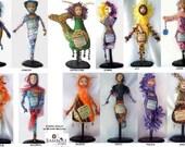 ZODIAC DOLLS, Kit & Pattern to make 3 Dolls