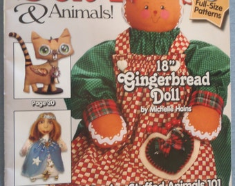 SOFT DOLLS & ANIMALS Magazine- January 2013, Diy Elf Doll, Diy Fairy Doll, Instructional, Cloth Doll Projects, Workshop, Projects, kids toys