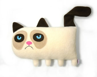 Grumpy Cat- handmade plush animal