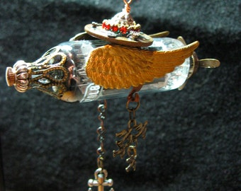 Airship Amour Steampunk Pendant or Ornament
