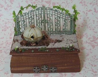 Miniature Fantasy Carriage at the Gates Figurine