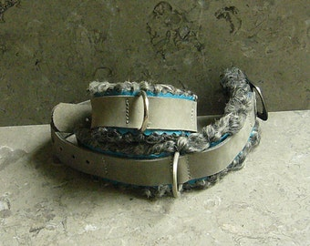 Gentle Restraint Cuff -- Leather and Real Persian Lamb