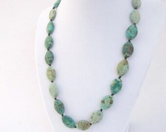 Turquoise Stone Necklace, December Birthstone Bracelet