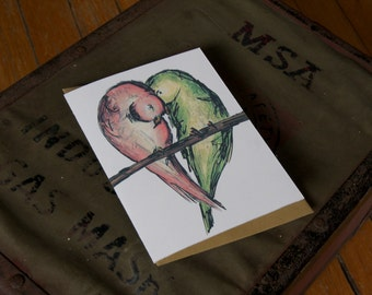 True Love Birds - Single note card