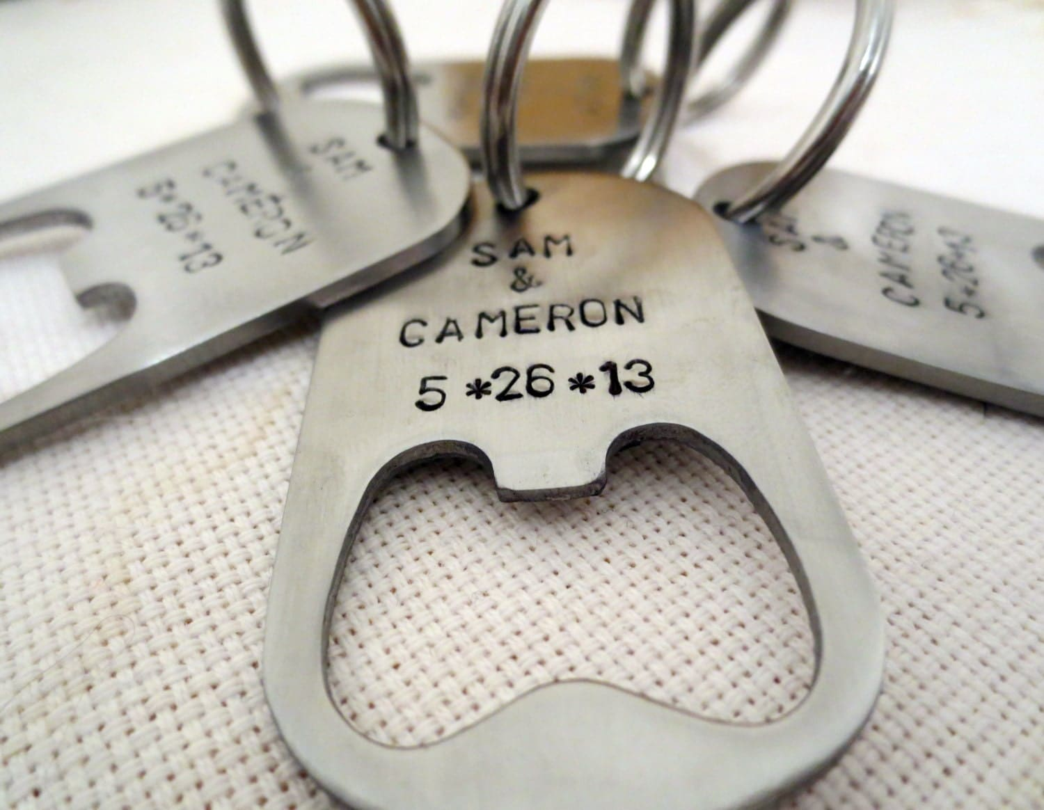 10 personalized bottle openers dog tag keychain. Black Bedroom Furniture Sets. Home Design Ideas
