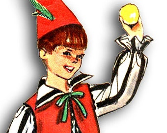 SIMPLICITY 6198  Vintage Clown Costumes  Size 8-10
