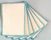 organic cloth wipes. eco-friendly baby washcloths. 6 pk 2 ply. hemp organic cotton fleece. Turquoise stitching