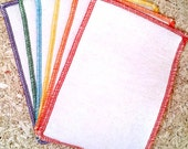 Organic Baby Washcloths - Cloth Diaper Wipes - Baby Cloth Wipes - Hemp Organic Cotton Fleece - 6 pk 2 ply Rainbow