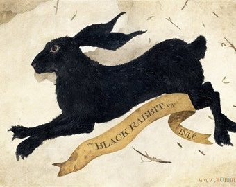 "The Black Rabbit of Inlé -2013 First Edition Giclee  19"" x 11 3/4"""
