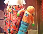 Happy Honu Maui Hula girl Baby Doll Sundress 1, 2 or 3 years made in Hawaii Pink or Cream fabric
