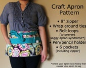 Instant Download: Craft Show Apron Vendor Show Apron Half with Zipper Pattern as seen on BH&G DIY magazine