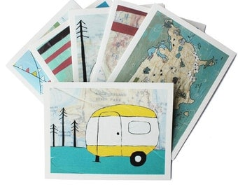 Boxed Notecard Set - Campers