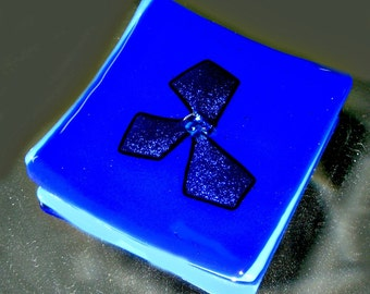 Fused and Dichroic Glass Dish