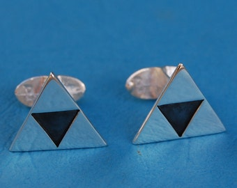 Sterling silver Legend of Zelda Triforce cufflinks