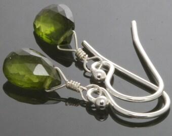 Little Vesuvianite Sterling Silver Earrings s13e023