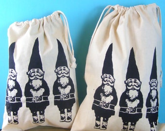Produce Bags Gnomes - reusable bags farmers market gnome bag draw string bags Indie Housewares green gifts gardening