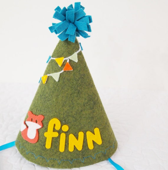 CLEARANCE SALE Personalized Birthday Party Hat Felt Birthday
