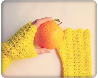 Glorieux Crochet PATTERN PDF Fingerless Gloves Mitts Digital Email