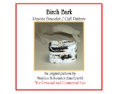 Peyote Pattern ... BIRCH BARK ... Bracelet Tutorial . Nature Lover . Trees . Realism . PDF . Black . White . Gray . Realistic . 3 for 2