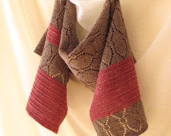 Stria Lace Scarf or Shawl Knitting Pattern