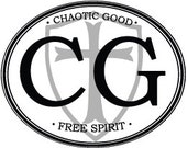 """Roleplaying """"Chaotic Good"""" Alignment Bumpersticker - Varying Sizes"""