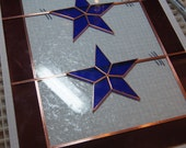 Military Blue Star Stained Glass Panel. Custom order for bmw44.