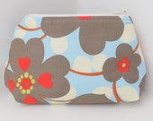 Cosmetic Pouch, Make Up Bag, Zippered, Carry All  -  Morning Glory