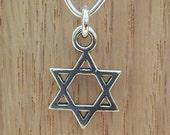 Star of David Sterling Silver Charm - Silver Star Charm