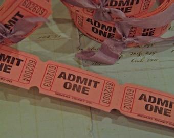 100 Pink Admit One tickets