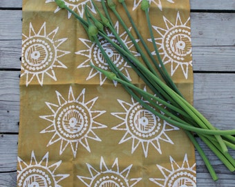 sun linen towel