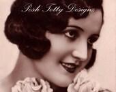1920s Art Deco Flapper Lady Vintage Postcard Digital Download Printable Image (PC40)