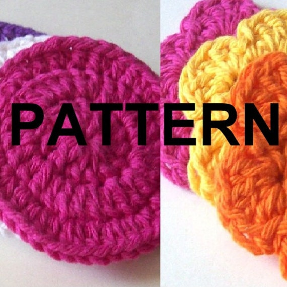 Crochet PATTERN Face Scrubbies, Circle and Flowers - Scrubbie Pattern ...
