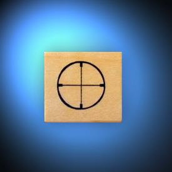 CROSSHAIRS Hunting / Shooting rubber stamp, scope sight No.14