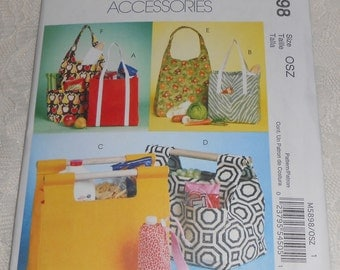 McCall's M5898 Sewing Pattern Market Totes and Bottle Carriers