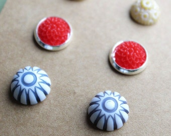 Post Earrings - 3 pairs - Primary Colors Mix