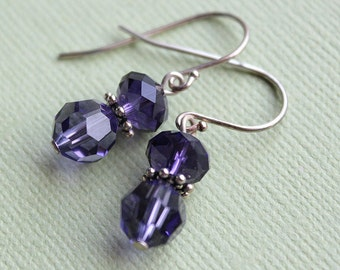 Petite Earrings - Swarovski Crystal - Sterling Silver - Perfect for Bridesmaids