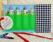 Crayon Roll / Crayon Wallet: Barnyard Animal Pals - arts & crafts coloring travel toy / travel game - Sale take 20% off