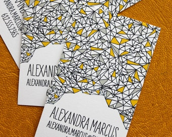 Triangle Pattern Calling Cards