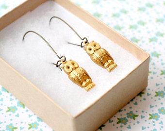 Little Owl Dangle Earrings