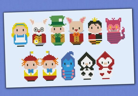 Alice in Wonderland parody - Cross stitch PDF pattern