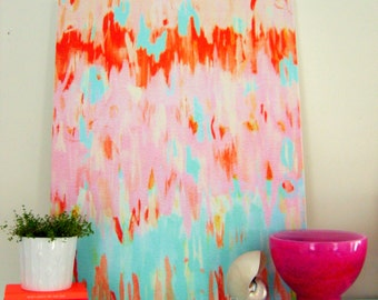 FLAMINGO ABSTRACT on stretched canvas