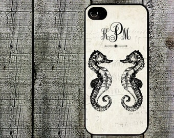 Personalized Seahorse Duo Phone Case for  iPhone 4 4s 5 5s 5c SE 6 6s 7  6 6s 7 Plus Galaxy s4 s5 s6 s7 Edge