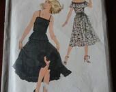 Vintage 70s Simplicity 8688 Two Piece Peasant Style Dress and Tie Belt size 12 B34 Uncut