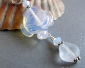 Opalite Sea Turtle Charm Zipper Pull Pendant by Cornerstoregoddess