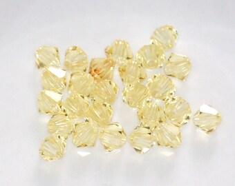 4mm 5301 JONQUIL Swarovski Crystal Bicone Beads (25) CRY8