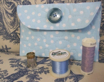Little Quilted Case, iphone ipod case, cell phone case, clutch, bridal purse, sewing pouch, baby blue, blue 2