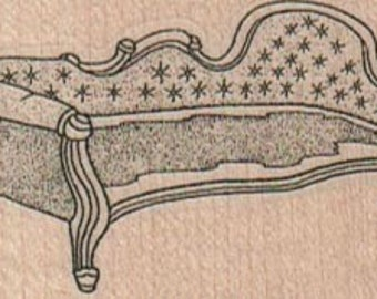 Rubber stamp Victorian Sofa   wood Mounted  scrapbooking supplies number 16470