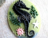 Unset 40x30 Seahorse Cameo