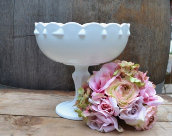 Large Tear Drop Milk Glass Planter